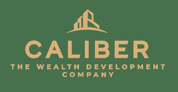 Caliber ( The Wealth Development Company ) ALTERNATE LOGO - COLOR - ALL GOLD