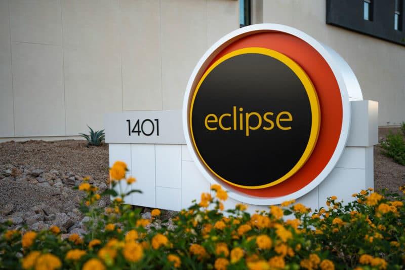 Eclipse TownHomes Address sign 1401 N Granite Reef Rd, Scottsdale, AZ 85257