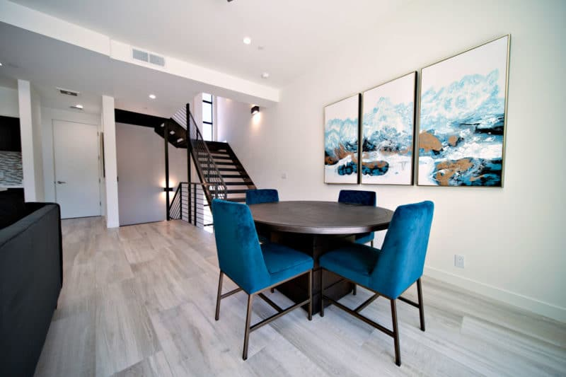 Eclipse Townhomes Interior Dining Area