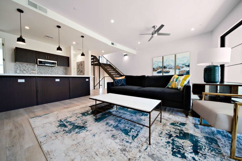 Eclipse Townhomes Interior Living Room and Kitchen